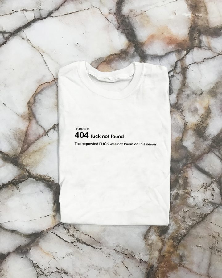 White SS sleeve 404 Error Shirt