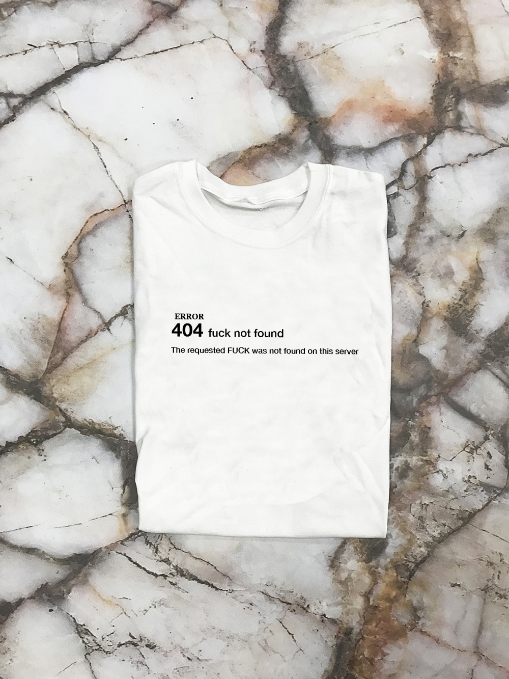 White SS sleeve 404 Error Shirt