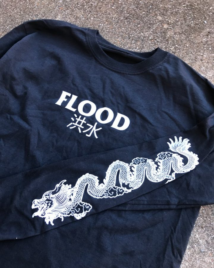 Flood Enter Dragon shirt black