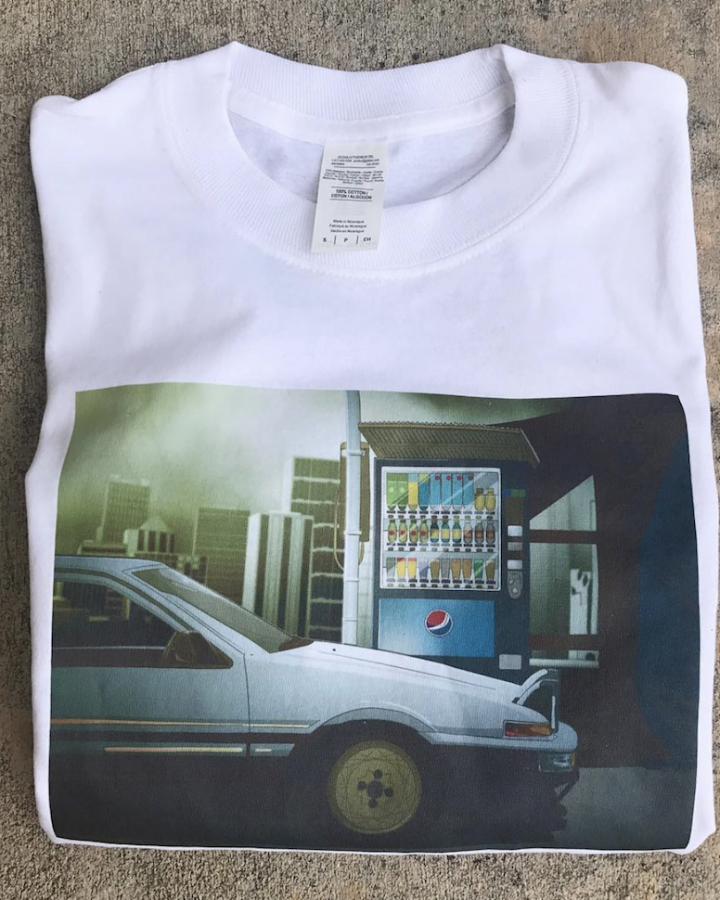 86 white long sleeve T Shirt