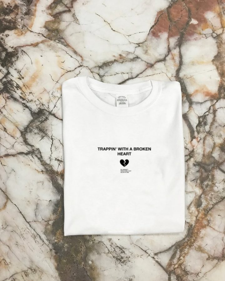 White Trappin' Broken Heart T Shirt