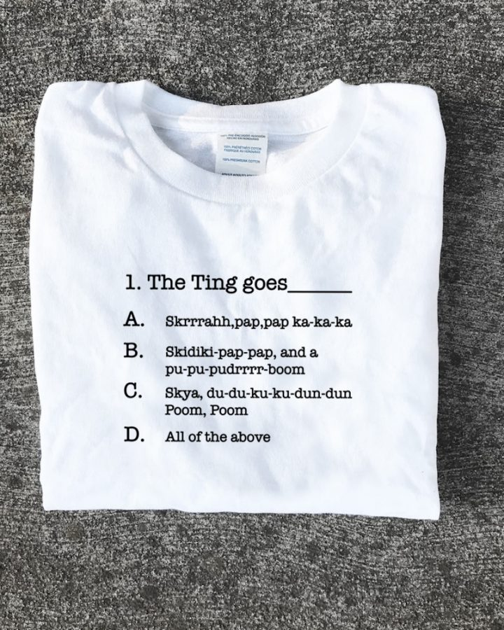 """""""The Ting goes"""" T Shirt Question one logo"""