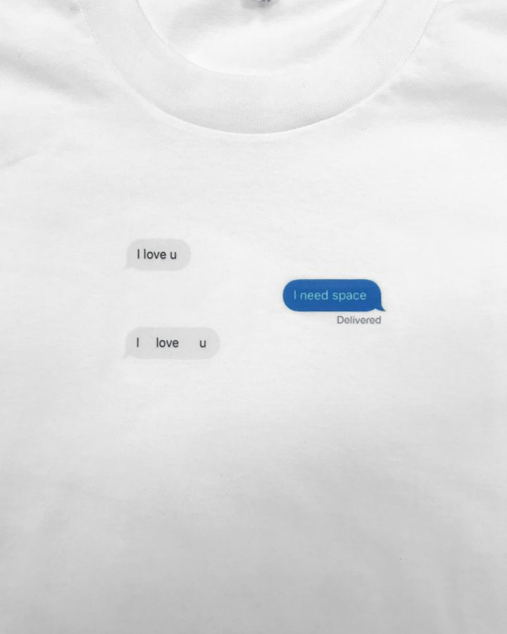 98d00c67cb7d I need space short sleeve white tee shirt
